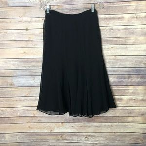 NWT Lauren Ralph Lauren black 100% silk skirt 16W